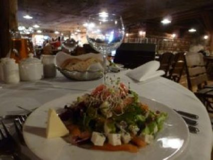 Wieliczka Salt Mine restaurant lunch