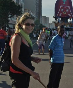 Hare Krishna parade with travel blogger Wanda Hennig