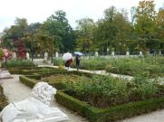 The gardens are gorgeous at Wilanów Palace, Warsaw.