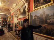 Enjoying the art at Wilanów Palace, Warsaw.