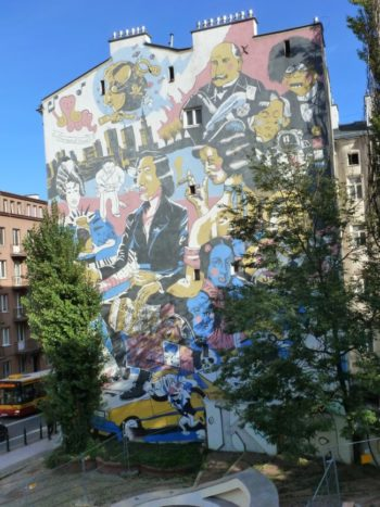 Chopin mural Warsaw