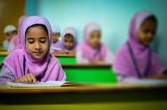 muslim girls in school setting