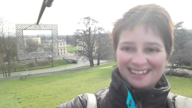 Selfie bij de Orangerie in Kassel