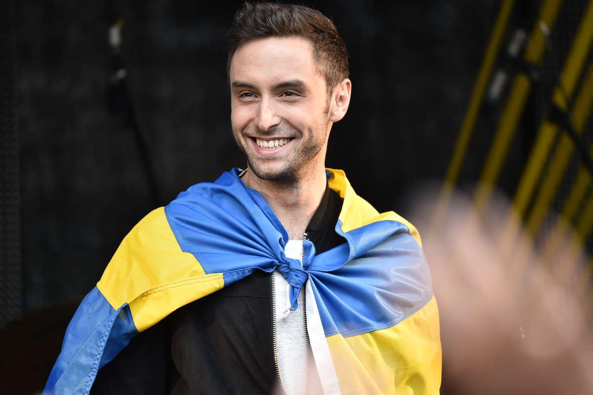Mans Zelmerlöw, de Zweedse songfestivalwinnaar van 2015
