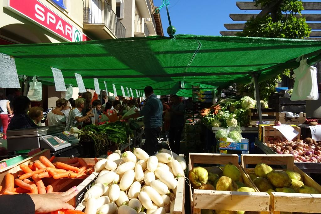 markt in Tossa de Mar Costa Brava Spanje