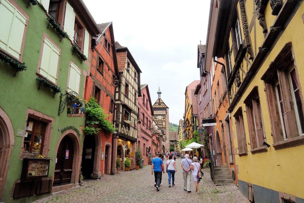 Riquewihr Route des Vins Elzas Vogezen Frankrijk