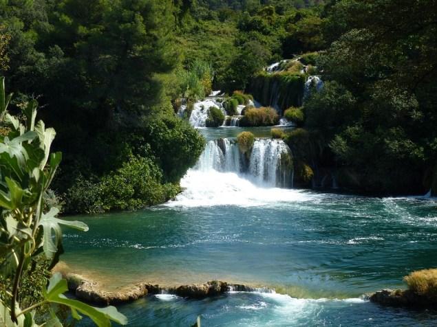 Plitvici meren Dalmatië Kroatië zomer
