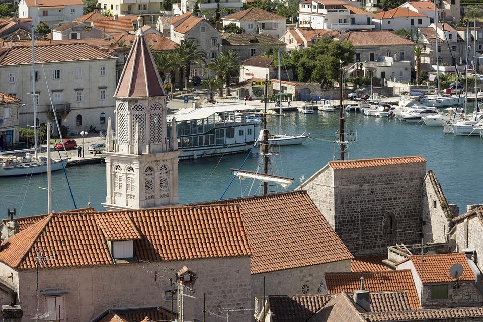 Trogir Dalmatië Kroatië zomer