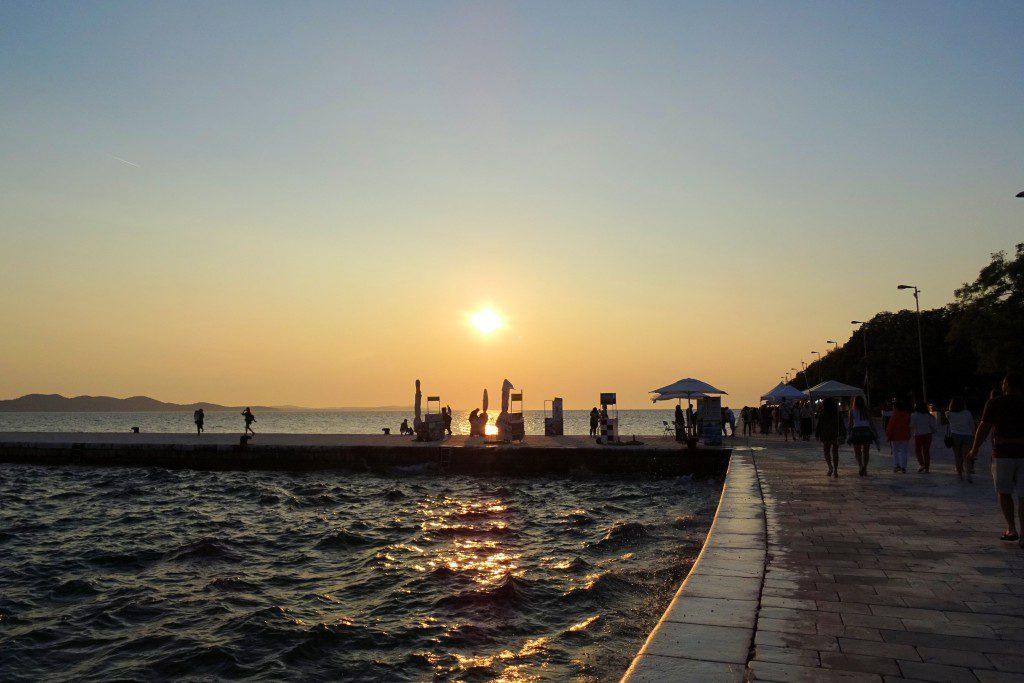 zonsondergang Zadar