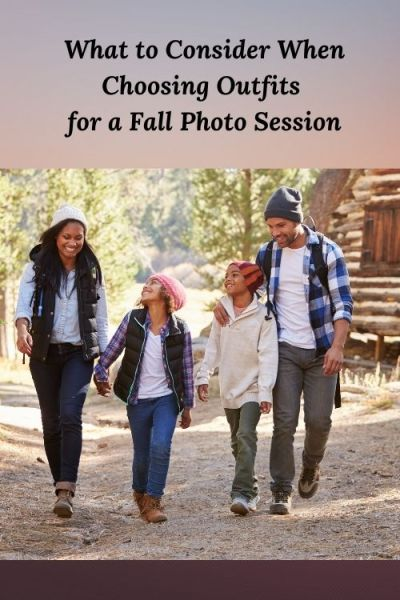 african american family and the words What to Consider When Choosing Outfits for a Fall Photo Session