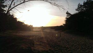 Ondergaande zon over het Wekeromse Zand