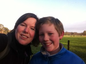 NS wandeling samen met mijn zoontje
