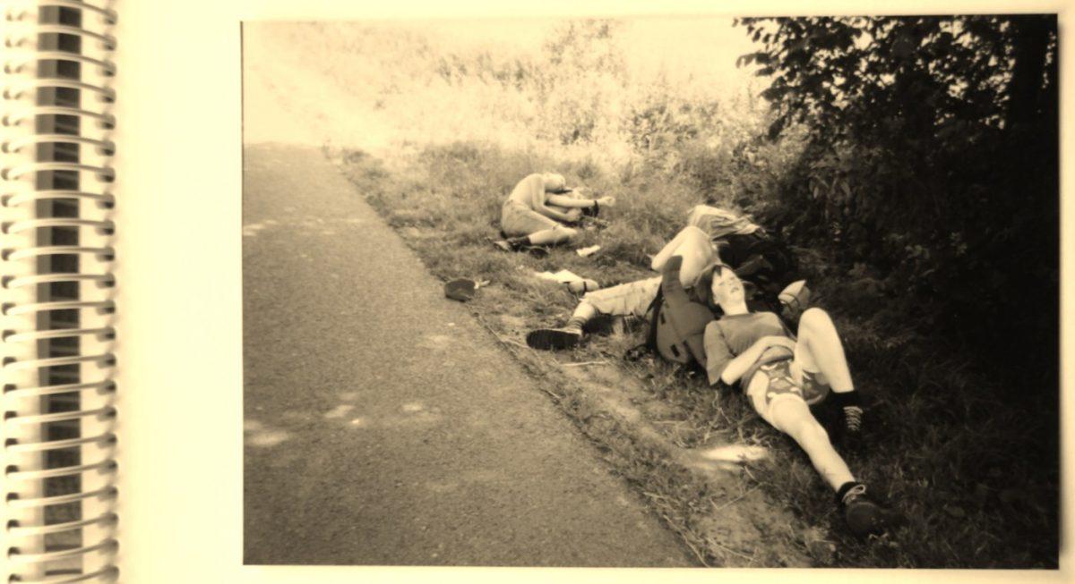 Rusten tijdens het Pieterpad