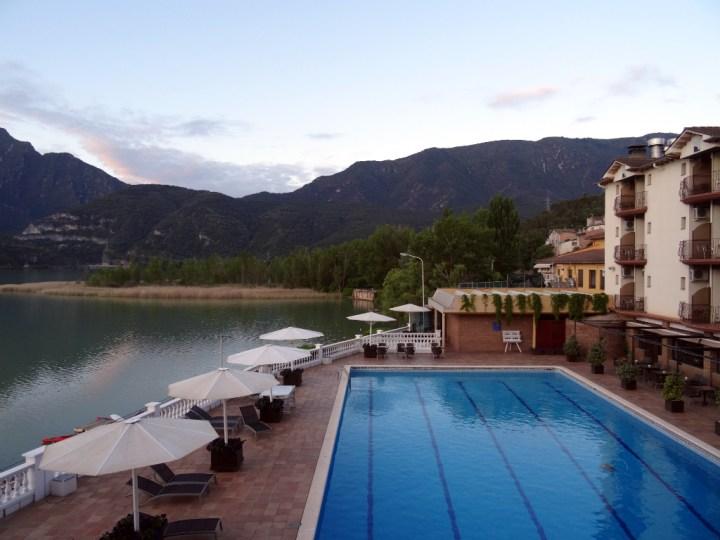 Uitzicht vanuit hotel Terradets Catalonië dag 1