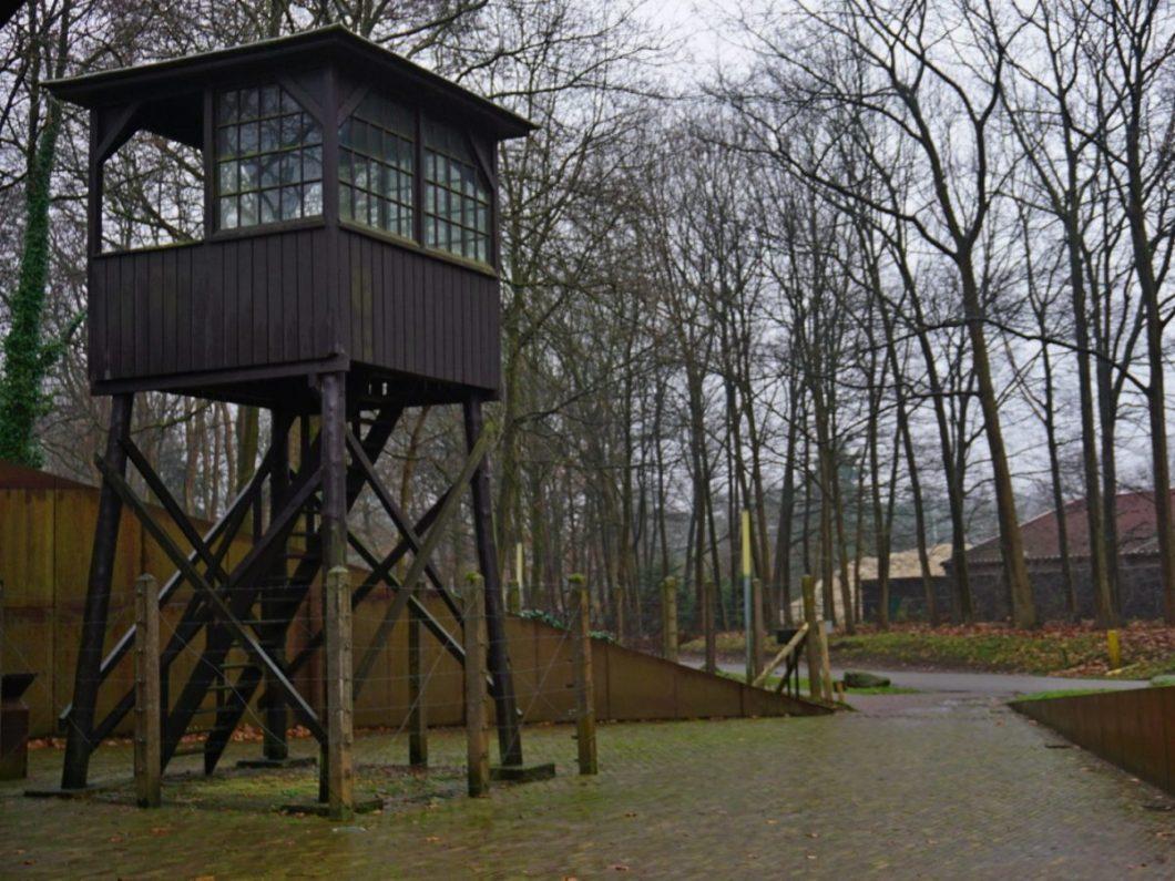 De wachttoren bij Kamp Amersfoort