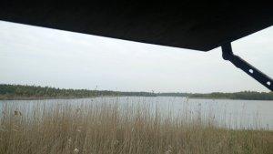 Uitzicht uit Vogelkijkhut Laarzenpad Naardermeer