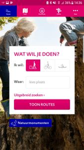 Wandel app Natuur Routes Natuurmonumenten