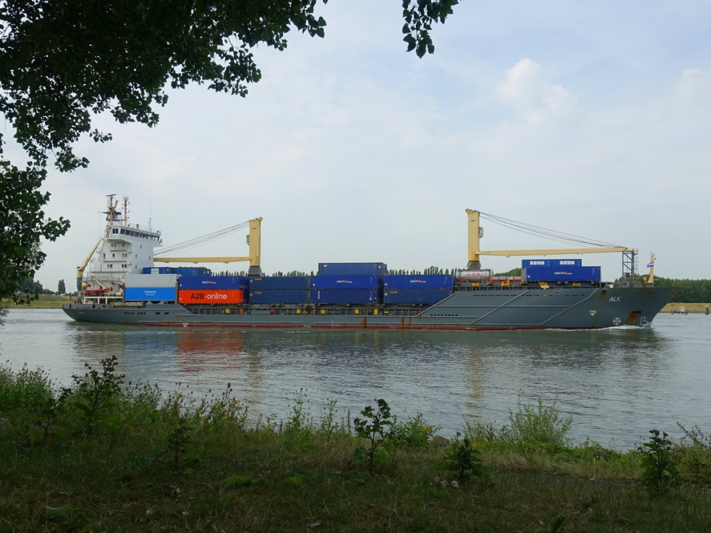 Containerschip Oude Maas