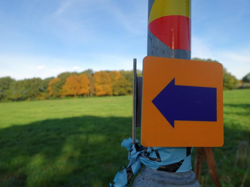 Markering wandelnetwerk Utrecht