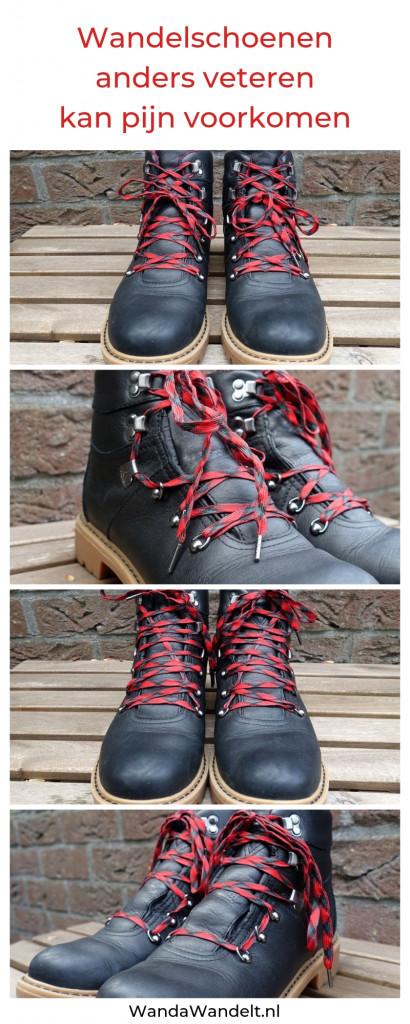 Vier voorbeelden van anders veteren van wandelschoenen
