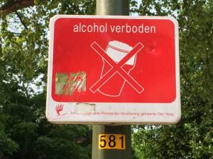 Bordje alcoholverbod Laakweg