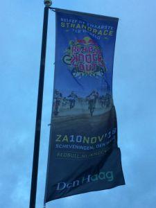 Vlag van de strandrace op Scheveningen