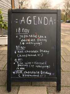 Agenda van 'The Chocolate Shop''