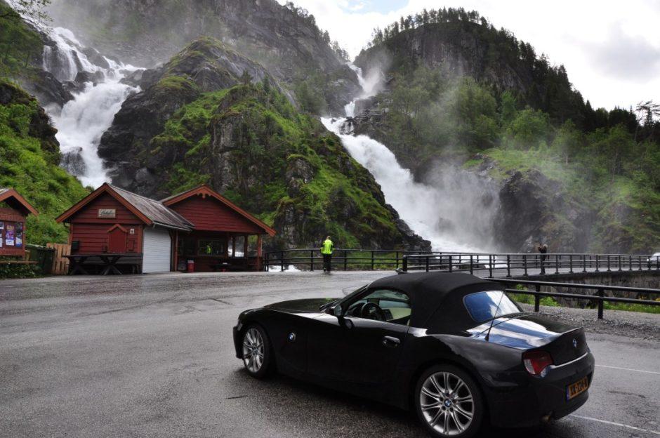Noorwegen Låtefossen Hadanger route
