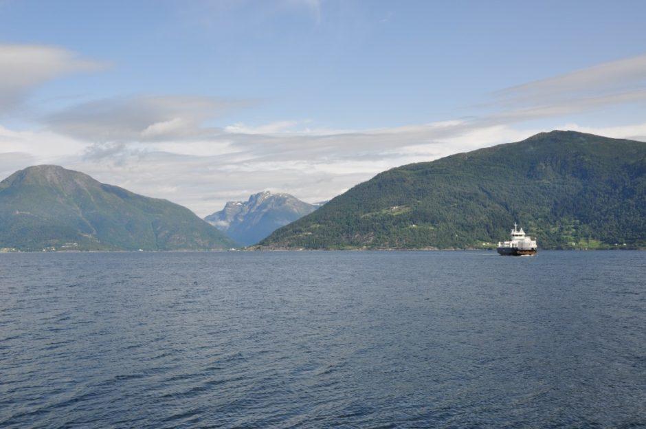 Noorwegen overtocht Sognefjord