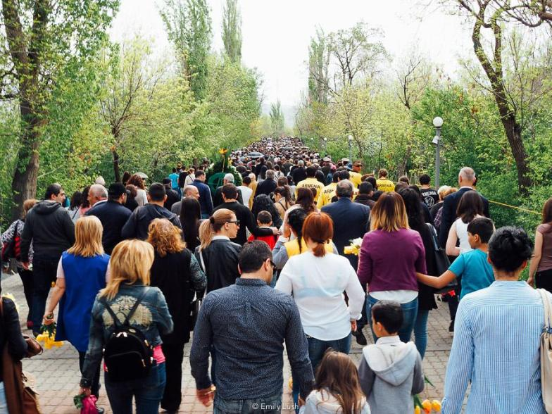 Armenian Genocide Memorial Day is marked annually on April 24. This is my account of the day in Yerevan, and what it felt like to be there as an outsider.