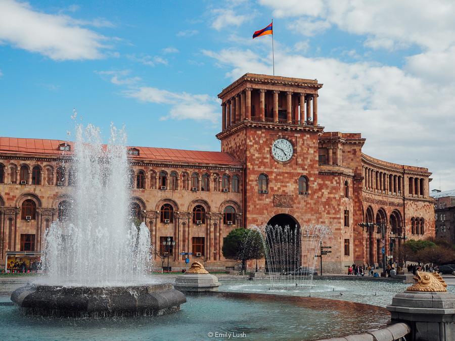 © Emily Lush 2018 | Republic Square | Things to do in Armenia Yerevan