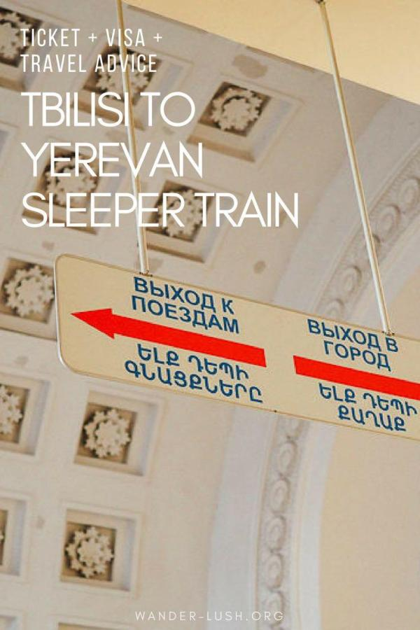How to travel from Tbilisi to Yerevan by overnight sleeper train.