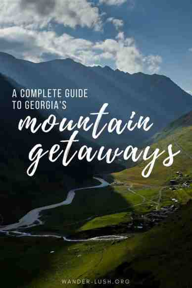 How to plan a mountain getaway to Kazbegi, Tusheti, Svaneti in Republic of Georgia.