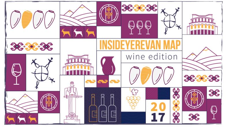 ONEArmenia's Inside Yerevan Map - Wine Edition. Credit: ONEArmenia.