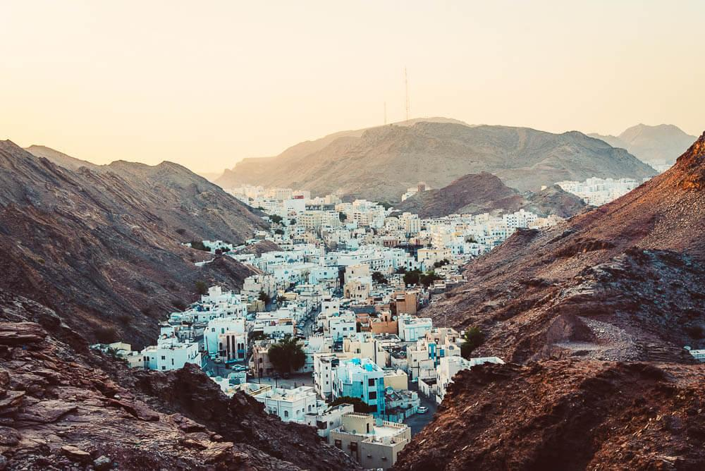 Village between the mountains. | Oman road trip