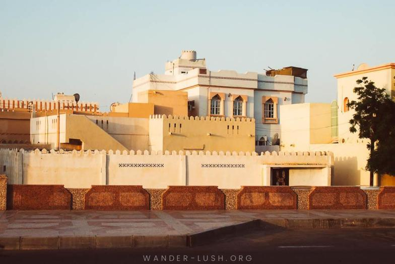 Omani architecture in Sur. Photo credit: Copyright Emily Lush | Oman road trip