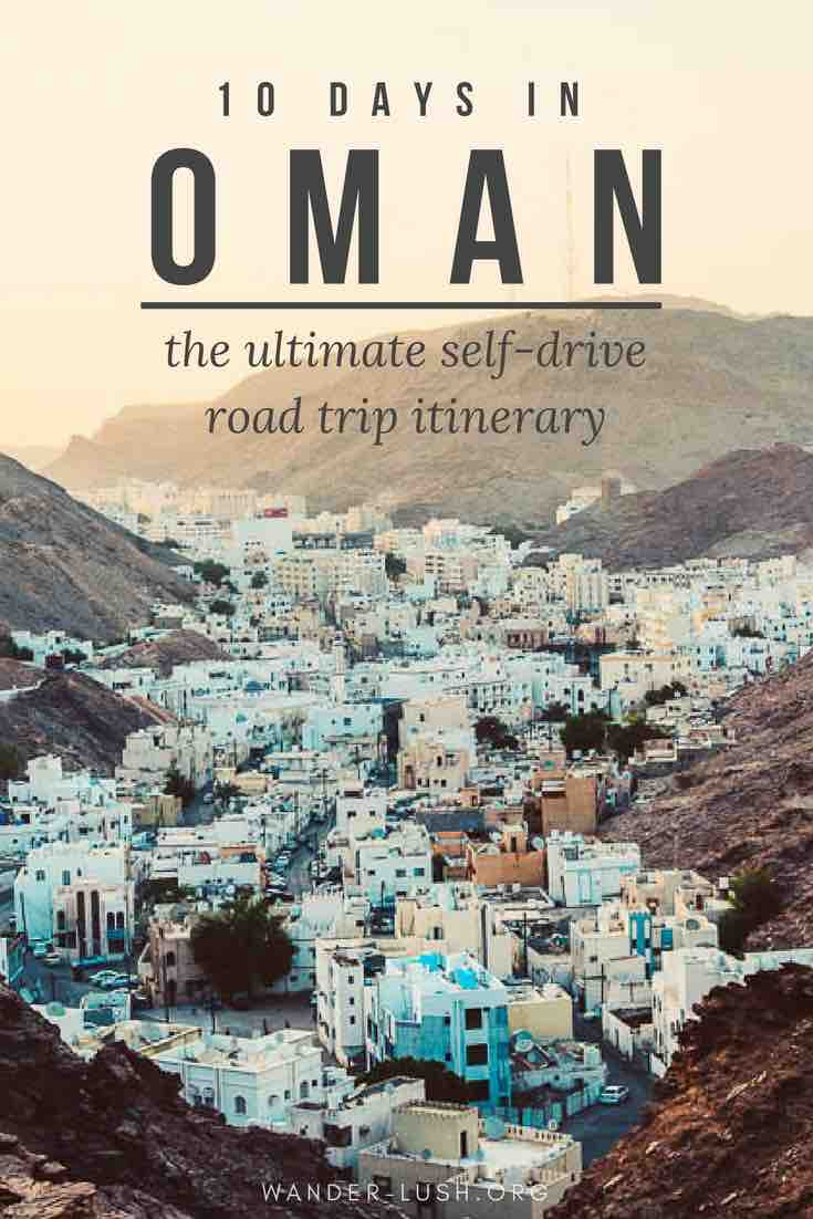 Oman promises tourists the road trip of a lifetime! This 10-day Oman road trip itinerary includes attractions, drive times and distances, accommodation recommendations, and places to stop along the way.