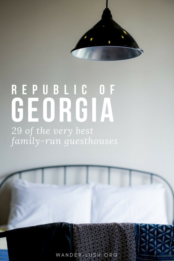 Planning to travel to Republic of Georgia (country)? Family-run guesthouses are the best accommodation option. This post covers 29 of the very best guesthouses in 7 cities and towns—plus helpful tips and things you should know about guesthouses in Georgia, including money, security, cleanliness, and how to book.