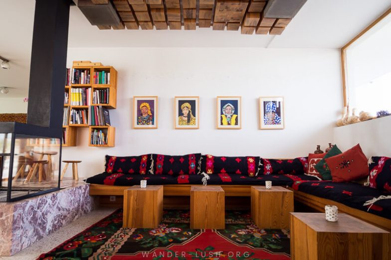 The interior of Hotel Gračanica | Things to do in Prishtina city, Kosovo—including the best cultural attractions, designer cafes and architecture. Use this guide to plan your Kosovo travel!