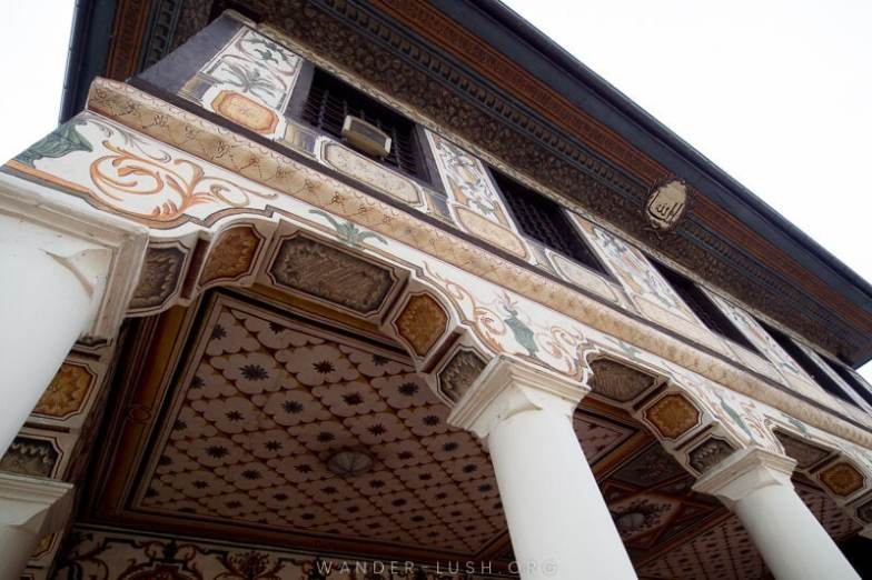 Looking for an easy day trip from Skopje? Here's how to visit 2 of the country's top religious sites, Tetovo Mosque & Arabati Baba Teke, by bus | The entrance to Tetovo Mosque.