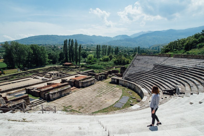 Roman ruins in Bitola, North Macedonia.