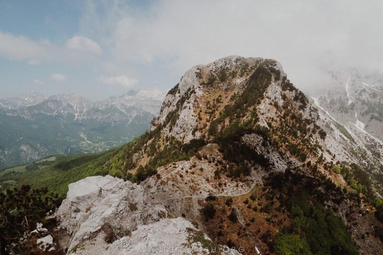 A high mountain.