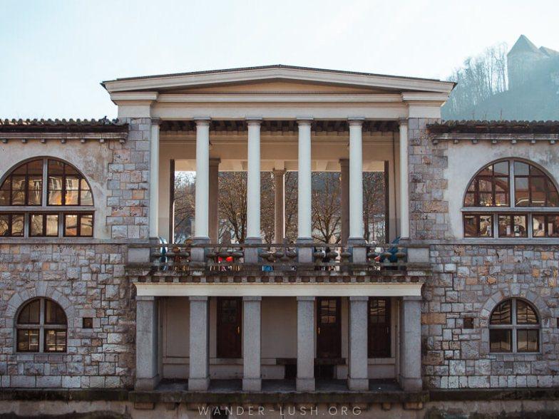 A stone building in Ljubljana.