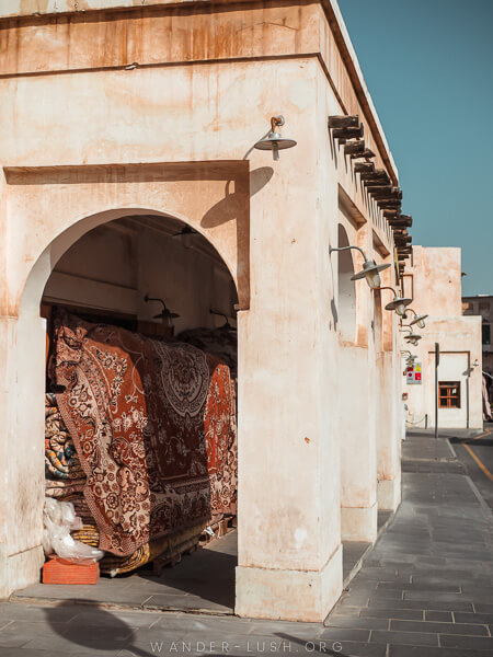 Arched buildings in the souq in Doha.