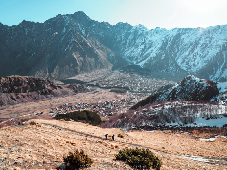 Beautiful mountains in Kazbegi, Georgia.