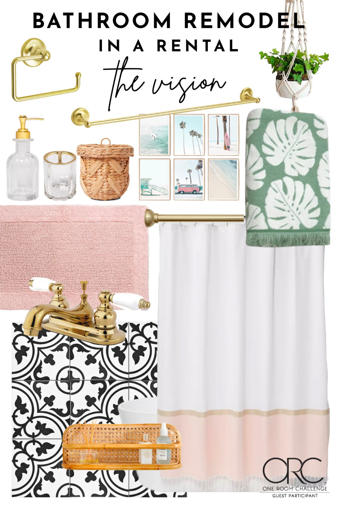 ONE ROOM CHALLENGE SPRING 2020: BATHROOM REMODEL INSPO