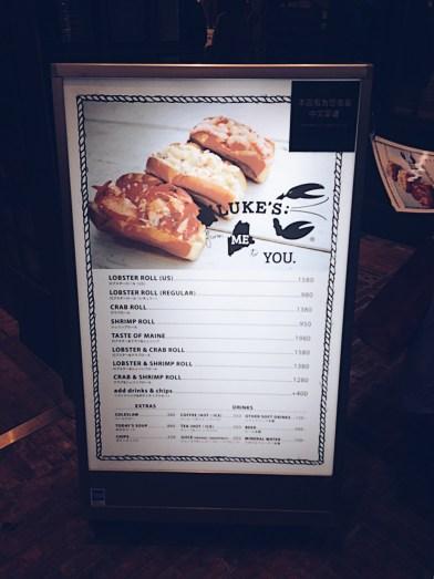 The menu & price