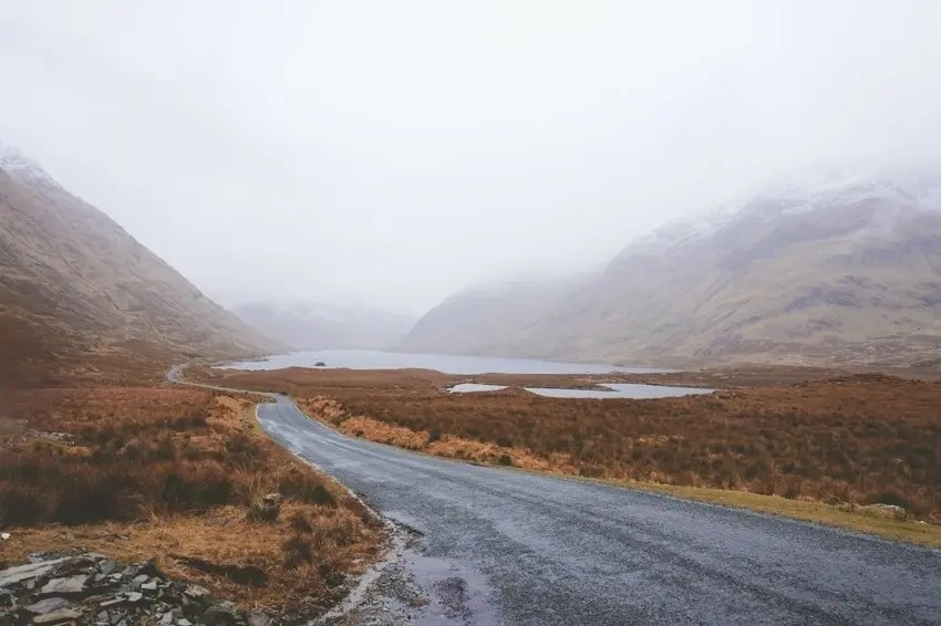 Rural Road Ireland Mountain Pass
