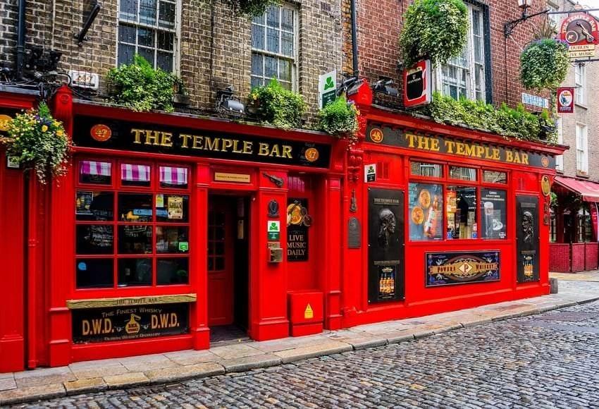 The Temple Bar Pub In Dublin Ireland