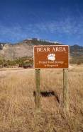 A very necessary warning at Ewing-Snell Ranch - where we were visited many times by black bears